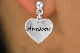 """<bR>          EXCLUSIVELY OURS!!<Br>         LEAD & NICKEL FREE!!<BR>W313SE - """"AWESOME"""" HEART<Br>& EARRINGS FROM $4.50 TO $8.35"""