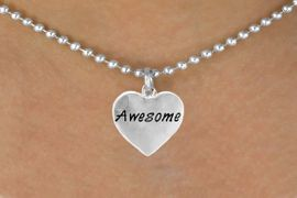 """<bR>          EXCLUSIVELY OURS!!<Br>         LEAD & NICKEL FREE!!<BR>W313SN - """"AWESOME"""" HEART<br>& NECKLACE AS LOW AS $4.50"""