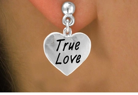 """<bR>           EXCLUSIVELY OURS!!<Br>          LEAD & NICKEL FREE!!<BR>W317SE - """"TRUE LOVE"""" HEART<Br>& EARRINGS FROM $4.50 TO $8.35"""