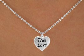 """<bR>          EXCLUSIVELY OURS!!<Br>         LEAD & NICKEL FREE!!<BR>W317SN - """"TRUE LOVE"""" HEART<br>& NECKLACE AS LOW AS $4.50"""