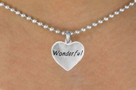 "<bR>             EXCLUSIVELY OURS!!<Br>            LEAD & NICKEL FREE!!<BR>W318SN - ""WONDERFUL"" HEART<br>   & NECKLACE AS LOW AS $4.50"