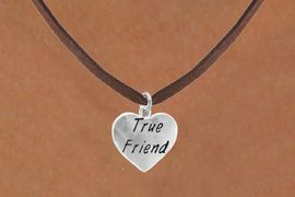 """<bR>             EXCLUSIVELY OURS!!<Br>            LEAD & NICKEL FREE!!<BR>W319SN - """"TRUE FRIEND"""" HEART<br>   & NECKLACE AS LOW AS $4.50"""