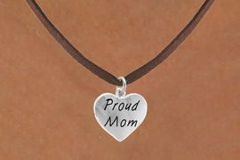 "<bR>             EXCLUSIVELY OURS!!<Br>            LEAD & NICKEL FREE!!<BR>W320SN - ""PROUD MOM"" HEART<br>   & NECKLACE AS LOW AS $4.50"