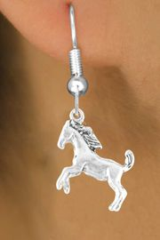 <bR>         EXCLUSIVELY OURS!!<Br>        LEAD & NICKEL FREE!!<BR>W322SE - STALLION CHARM<Br>& EARRING FROM $4.50 TO $8.35