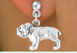 <bR>         EXCLUSIVELY OURS!!<Br>        LEAD & NICKEL FREE!!<BR> W323SE - BULLDOG CHARM<Br>& EARRING FROM $4.50 TO $8.35