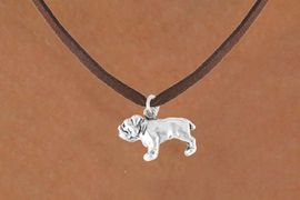 <bR>          EXCLUSIVELY OURS!!<Br>         LEAD & NICKEL FREE!!<BR> W323SN - BULLDOG CHARM<br>& NECKLACE AS LOW AS $4.50