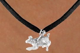 <bR>          EXCLUSIVELY OURS!!<Br>         LEAD & NICKEL FREE!!<BR>W324SN - BULL RIDER CHARM<br>& NECKLACE AS LOW AS $4.50