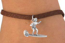 <bR>            EXCLUSIVELY OURS!!<Br>           LEAD & NICKEL FREE!!<BR>W325SB - MALE SURFER CHARM<Br>   & BRACELET AS LOW AS $4.50