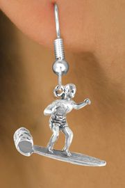 <bR>            EXCLUSIVELY OURS!!<Br>           LEAD & NICKEL FREE!!<BR>W325SE - MALE SURFER CHARM<Br>    & EARRING FROM $4.50 TO $8.35