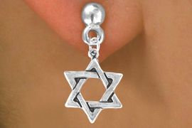 <bR>              EXCLUSIVELY OURS!!<Br>             LEAD & NICKEL FREE!!<BR>W327SE - STAR OF DAVID CHARM<Br>& EARRINGS FROM $4.50 TO $8.35