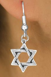 <bR>              EXCLUSIVELY OURS!!<Br>             LEAD & NICKEL FREE!!<BR>W327SE - STAR OF DAVID CHARM<Br> & EARRINGS FROM $4.50 TO $8.35