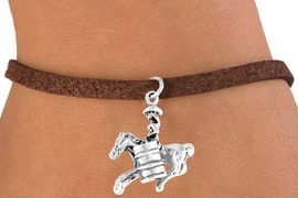 "<bR>              EXCLUSIVELY OURS!!<Br>             LEAD & NICKEL FREE!!<BR>W331SB - ""BARREL RACING"" GIRL<BR>    & BRACELET AS LOW AS $4.50"