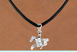 """<bR>              EXCLUSIVELY OURS!!<Br>             LEAD & NICKEL FREE!!<BR>W331SN - """"BARREL RACING"""" GIRL<br>    & NECKLACE AS LOW AS $4.50"""