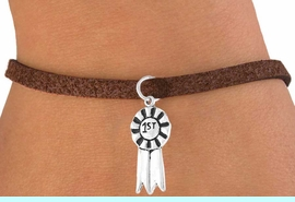 """<bR>        EXCLUSIVELY OURS!!<Br>       LEAD & NICKEL FREE!!<BR>   W332SB - """"1ST"""" RIBBON<BR>BRACELET AS LOW AS $4.50"""
