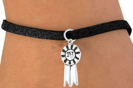 "<bR>        EXCLUSIVELY OURS!!<Br>       LEAD & NICKEL FREE!!<BR>   W332SB - ""1ST"" RIBBON<BR>BRACELET AS LOW AS $4.50"