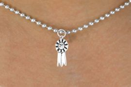 """<bR>        EXCLUSIVELY OURS!!<Br>       LEAD & NICKEL FREE!!<BR> W332SN - """"1ST"""" RIBBON &<br>NECKLACE AS LOW AS $4.50"""