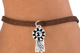 """<bR>            EXCLUSIVELY OURS!!<Br>           LEAD & NICKEL FREE!!<BR>W333SB - """"1ST PLACE"""" RIBBON<BR>  & BRACELET AS LOW AS $4.50"""
