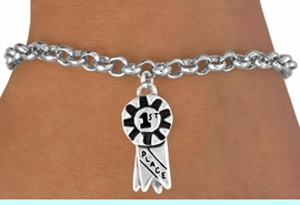 "<bR>            EXCLUSIVELY OURS!!<Br>           LEAD & NICKEL FREE!!<BR>W333SB - ""1ST PLACE"" RIBBON<BR>  & BRACELET AS LOW AS $4.50"