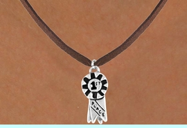 """<bR>            EXCLUSIVELY OURS!!<Br>           LEAD & NICKEL FREE!!<BR>W333SN - """"1ST PLACE"""" RIBBON<br> & NECKLACE AS LOW AS $4.50"""