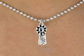 "<bR>            EXCLUSIVELY OURS!!<Br>           LEAD & NICKEL FREE!!<BR>W333SN - ""1ST PLACE"" RIBBON<br>  & NECKLACE AS LOW AS $4.50"