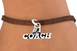 "<bR>        EXCLUSIVELY OURS!!<Br>       LEAD & NICKEL FREE!!<BR>   W335SB - ""#1 COACH"" &<Br>BRACELET AS LOW AS $4.50"