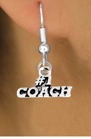 "<bR>        EXCLUSIVELY OURS!!<Br>       LEAD & NICKEL FREE!!<BR>      W335SE - ""#1 COACH""<Br>EARRINGS FROM $4.50 TO $8.35"