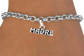 """<bR>       EXCLUSIVELY OURS!!<Br>      LEAD & NICKEL FREE!!<BR>     W340SB - """"MADRE"""" &<Br>BRACELET AS LOW AS $4.50"""