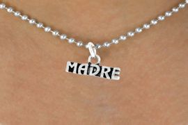 """<bR>      EXCLUSIVELY OURS!!<Br>     LEAD & NICKEL FREE!!<BR>     W340SN - """"MADRE"""" &<Br>NECKLACE AS LOW AS $4.50"""