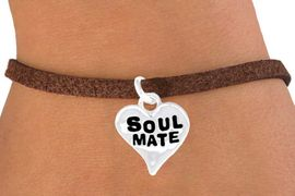 """<bR>            EXCLUSIVELY OURS!!<Br>           LEAD & NICKEL FREE!!<BR>  W342SB - """"SOUL MATE"""" HEART<Br>& BRACELET FROM $4.50 TO $8.35"""