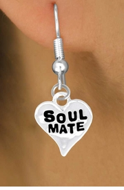"<bR>            EXCLUSIVELY OURS!!<Br>           LEAD & NICKEL FREE!!<BR>  W342SE - ""SOUL MATE"" HEART<Br>& EARRINGS FROM $4.50 TO $8.35"