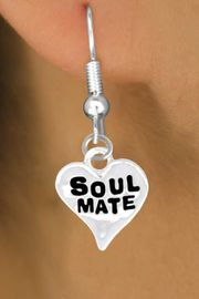 """<bR>            EXCLUSIVELY OURS!!<Br>           LEAD & NICKEL FREE!!<BR>  W342SE - """"SOUL MATE"""" HEART<Br>& EARRINGS FROM $4.50 TO $8.35"""