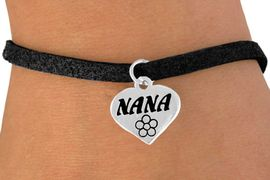 """<bR>          EXCLUSIVELY OURS!!<Br>         LEAD & NICKEL FREE!!<BR>  W344SB - """"NANA"""" HEART &<Br>BRACELET FROM $4.50 TO $8.35"""