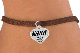 "<bR>          EXCLUSIVELY OURS!!<Br>         LEAD & NICKEL FREE!!<BR>    W344SB - ""NANA"" HEART &<Br>BRACELET FROM $4.50 TO $8.35"