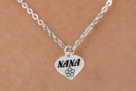 """<bR>        EXCLUSIVELY OURS!!<Br>       LEAD & NICKEL FREE!!<BR>   W344SN - """"NANA"""" HEART &<br>NECKLACE FROM $4.50 TO $8.35<BR>                            �2008"""