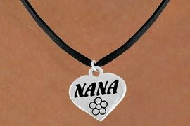 """<bR>          EXCLUSIVELY OURS!!<Br>         LEAD & NICKEL FREE!!<BR>   W344SN - """"NANA"""" HEART &<br>NECKLACE FROM $4.50 TO $8.35"""