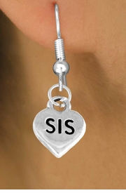 "<bR>       EXCLUSIVELY OURS!!<Br>      LEAD & NICKEL FREE!!<BR>    W345SE - ""SIS HEART &<Br>EARRINGS FROM $4.50 TO $8.35"