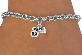 "<bR>         EXCLUSIVELY OURS!!<Br>         LEAD & NICKEL FREE!!<BR>   W350SB - ""SPECIAL  MOM""<Br>BRACELET FROM $4.50 TO $8.35"