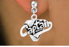 """<bR>         EXCLUSIVELY OURS!!<Br>        LEAD & NICKEL FREE!!<BR>      W353SE - """"CAPTAIN"""" &<Br> EARRINGS FROM $4.50 TO $8.35"""