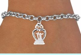 """<bR>             EXCLUSIVELY OURS!!<Br>            LEAD & NICKEL FREE!!<BR>   W354SB - """"WEDDING HEART""""<Br>& BRACELET FROM $4.50 TO $8.35"""