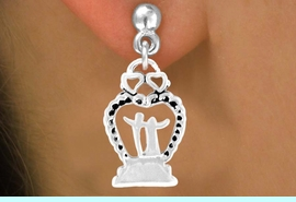 """<bR>          EXCLUSIVELY OURS!!<Br>         LEAD & NICKEL FREE!!<BR> W354SE - """"WEDDING HEART""""<Br>& EARRINGS FROM $4.50 TO $8.35"""