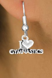 "<bR>              EXCLUSIVELY OURS!!<Br>             LEAD & NICKEL FREE!!<BR>W355SE - ""I LOVE GYMNASTICS""<Br>   & EARRINGS FROM $4.50 TO $8.35"