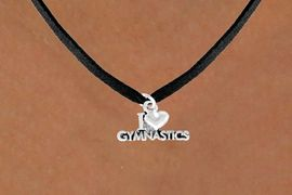 "<bR>              EXCLUSIVELY OURS!!<Br>             LEAD & NICKEL FREE!!<BR>W355SN - ""I LOVE GYMNASTICS""<Br>   & NECKLACE AS LOW AS $4.50"