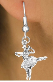 <bR>      EXCLUSIVELY OURS!! <BR>     LEAD & NICKEL FREE!! <BR>W360SE - BALLET DUET <BR>       CHARM EARRINGS <br>       AS LOW AS $3.25