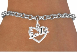 "<bR>             EXCLUSIVELY OURS!!<BR>             LEAD & NICKEL FREE!!<BR>     W412SB - ""I LOVE BALLET"" <BR>           CHARM BRACELET <br>       AS LOW AS $3.25"