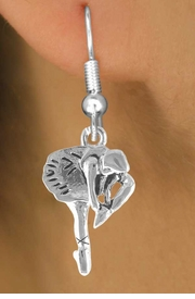 <bR>       EXCLUSIVELY OURS!!<BR>      LEAD & NICKEL FREE!!<BR> W791SE - POSED BALLERINA <BR>      CHARM EARRINGS <br>       AS LOW AS $2.45