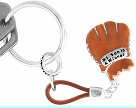 """<Br>                EXCLUSIVELY OURS!!!<BR>W11047KC - """"MY SON IS A WINNER""""<BR>                BASEBALL KEY CHAIN<br>                                    AS LOW AS $1.99"""