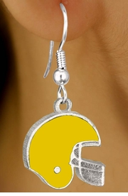 <br>                    EXCLUSIVELY OURS!!!<BR>W11492E - YELLOW FOOTBALL HELMET<br>             EARRINGS AS LOW AS $2.40