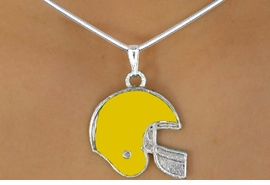 <Br>                    EXCLUSIVELY OURS!!!<Br>W11524N - YELLOW FOOTBALL HELMET<br>            NECKLACE AS LOW AS $2.55
