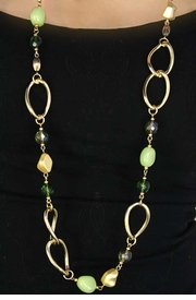 <Br>                        EXCLUSIVELY OURS!!!<Br>W11693NEB - IRIDESCENT GREEN FACETED<br>   BEAD NECKLACE, EARRING, & BRACELET<Br>                       SET AS LOW AS $15.75