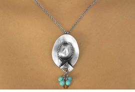<br>                      EXCLUSIVELY OURS!!!<bR>    W11736N - STERLING SILVER PLATED<Br>       COWBOY HAT & MINI HORSE HEAD<br>BEAD DROP NECKLACE AS LOW AS $8.25